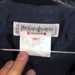 VINTAGE Yves Saint Laurent black skirt suit